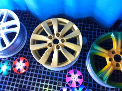 轮毂彩绘水转印技术